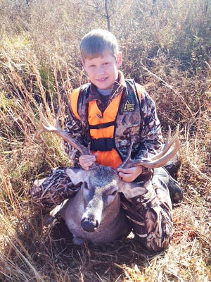 Hayden Cauley, 10, of Ocean Springs, harvested this non-typical 10-point while on a Sardis draw hunt. Cauley is this week's pick for the Youth Hunter Photo Contest