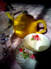One of the many tea sets seen at the Smith-Byrd House in Prattville.