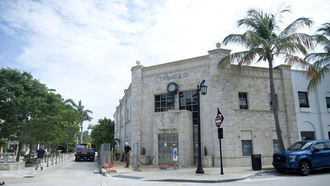 Renovations were underway this summer at the Tiffany and Co. Building at 259 Worth Ave. on the corner of Hibiscus Avenue in Palm Beach.