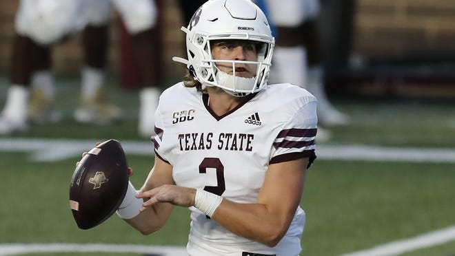 Texas State quarterback Brady McBride replaced injured starter Tyler Vitt and threw two second-half touchdowns, but the Bobcats fell 40-38 at Georgia Southern on Saturday.