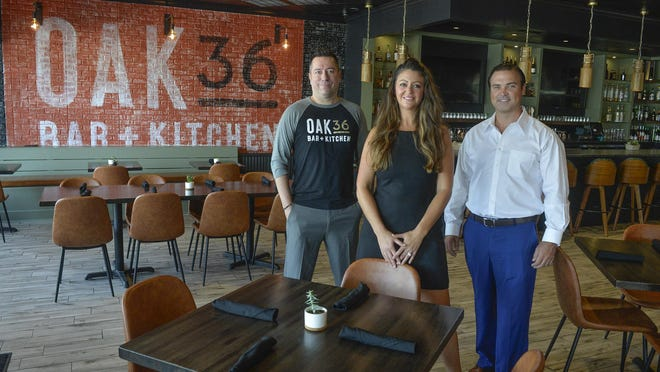 Owners of Oak 36 Bar + Kitchen are Brad Sellars and Kara and Jason Ford. The new restaurant open in the Twelve Oaks Shopping Center earlier this month. [Steve Bisson/savannahnow.com].