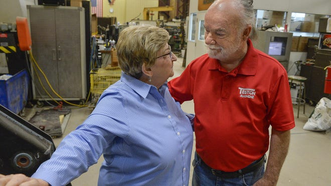 Diana and Mack Teston of the Teston Machine Corp.