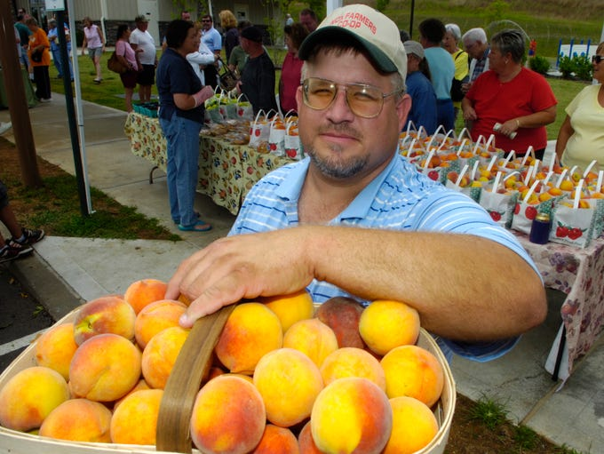 Jeff Fox of the Fruit and Berry Patch, pictured Thursday