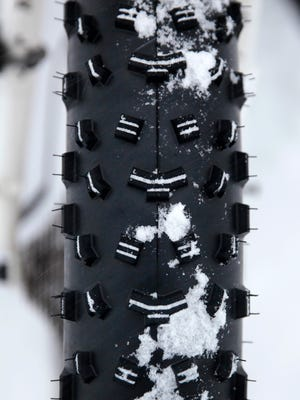 Fat bikes feature three- to four-inch wide knobby tires.