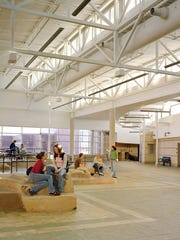 Fossil Ridge High School maximizes natural lighting.