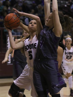 Kamryn Cantwell (5) and the Bowie Lady Rabbits might be the area's best chance of a regional tournament qualifier.