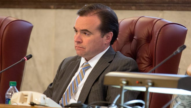Mayor John Cranley listens as supporters of The Center for Closing the Health Gap, run by former mayor Dwight Tillery, tell Cincinnati City Council about the good work the non-profit does. Some of the speakers wanted Cranley to answer questions, but he said this was only a time for council to listen. Each speaker was allowed two minutes.