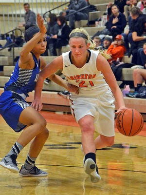 Brighton's Julianna Pietila had 15 points in a 50-38 victory over Northville.