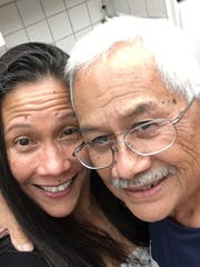 Former Lt. Gov. Frank F. Blas is shown with his daughter Lynette Blas-Bamba in a photo provided by family. Blas died on August 1, at age 75.