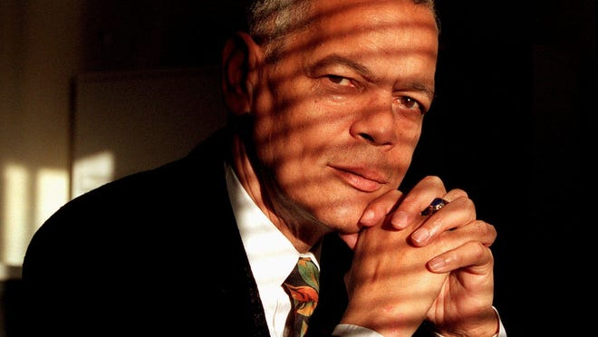 "Julian Bond in 1998 at his NAACP office. President Barack Obama called Bond ""a hero."""