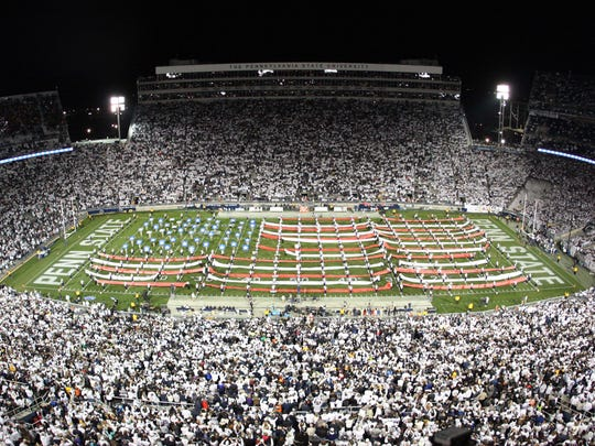 Beaver Stadium is shown here in a file photo. The Penn State-Michigan game, set for Saturday, Oct. 19, will have tickets that sell for as much as $240, making them the most expensive tickets in Beaver Stadium history.