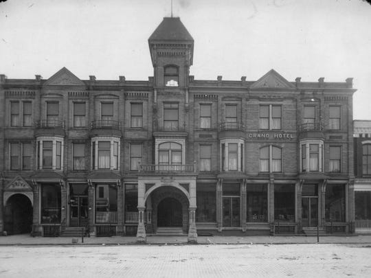 The Grand Hotel, once one of eleven hostelries on Center