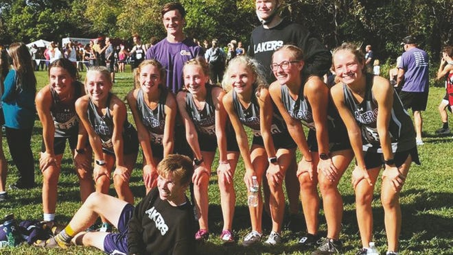 The Camdenton cross country team at Hermitage on Saturday, September 26.