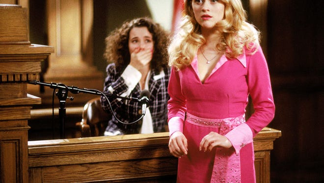 Reese Witherspoon, right, and Linda Cardellini in a scene from the motion picture Legally Blonde.
