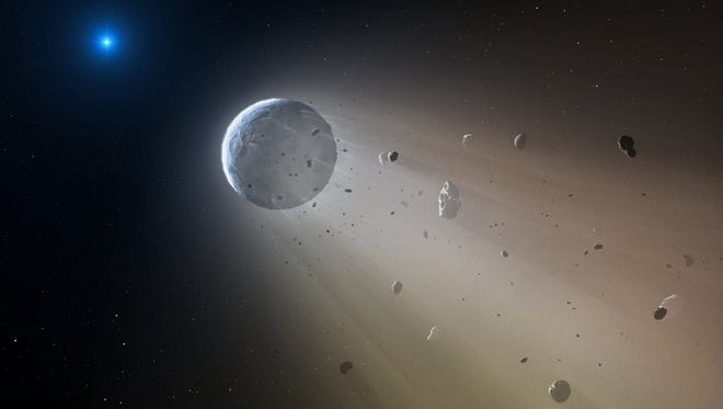 Artist's rendering of an asteroid.