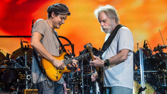 John Mayer, left, and Bob Weir will perform with  Dead & Company June 6 at Ruoff Home Mortgage Music Center.