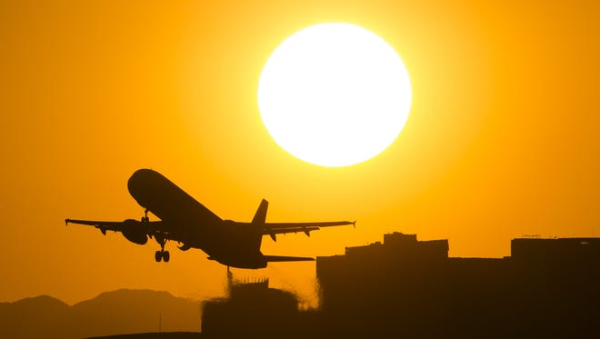 About 1,200 flights land and take off daily from Phoenix's Sky Harbor International Airport.