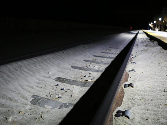 The Palm Springs North Amtrak train station is empty in the early morning hours of May 15, 2015. A train traveling through Indio struck and killed a woman on Friday, Sept. 6, 2019, officials said.