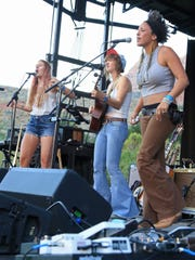 Rainbow Girls at the Zion Canyon Music Festival.