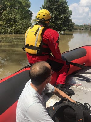 Ashland City firefighters traveled to Texas last week to assist in evacuations.
