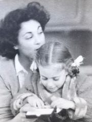 Glynne Hiller with herdaughter, Catherine in Paris in the 1950s.