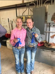 These two young girls smile from ear to ear as they show off their awards from last year's Lincoln County Fair livestock competition.