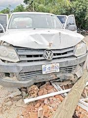 Este es el vehículo en el que fue capturado Trejo.