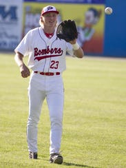 Former Battle Creek Bombers outfielder Cam Gibson (Michigan
