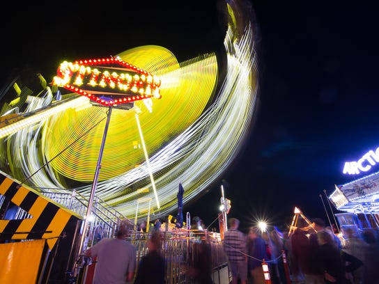 A ride at the Champlain Valley Fair in Essex Junction,
