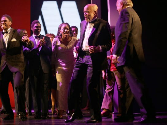 "Berry Gordy Jr. danced during opening night of ""Motown:"