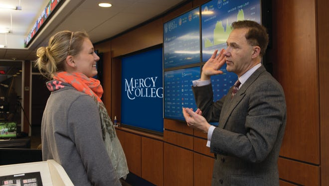 "Mercy College School of Business instructor Chuck Garcia explains to a current student how improvisation skills can help her ""think better on her feet"" and develop superior communication skills and situational awareness."