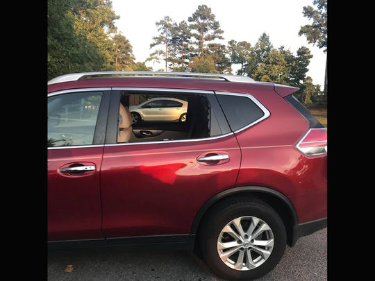 A July 29 car burglary in Bowie Nature Park where the culprit broke the window behind the driver's seat has prompted the victim to warn others of the crime risk.
