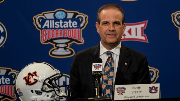 Auburn defensive coordinator Kevin Steele on Friday, Dec. 30, 2016 in New Orleans, La.