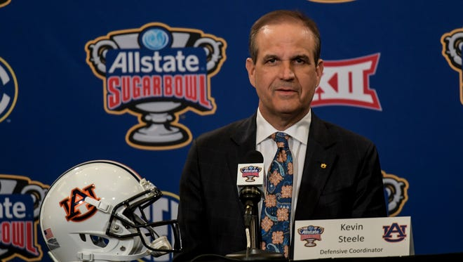 Auburn defensive coordinator Kevin Steele on Friday, Dec. 30, 2016 in New Orleans, La.