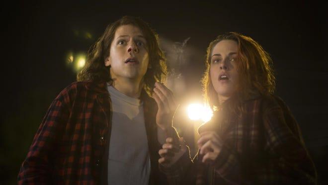 """Jesse Eisenber and Kristen Stewart appear in a scene from """"American Ultra."""""""