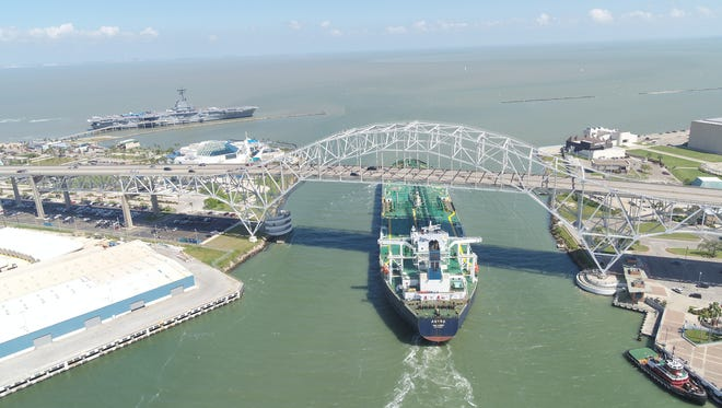 The Astra Majuro, owned by Buckeye Partners, a subsidiary of Trafigura, left the Port of Corpus Christi loaded with crude. on April 6, 2018.