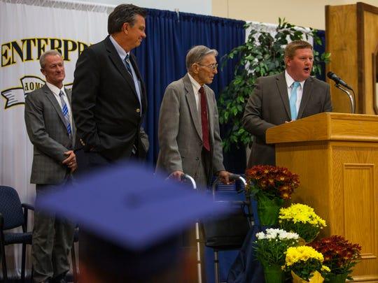 Enterprise High School commencement ceremony, Wednesday,