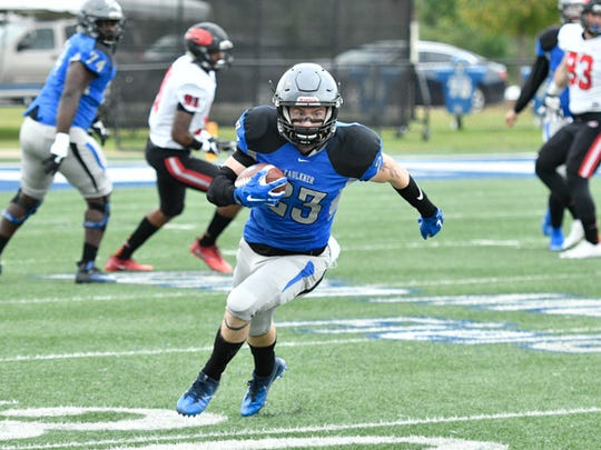Junior receiver Reagan Amos and the Faulkner passing game will look to have a big day Saturday against winless Edward Waters College.