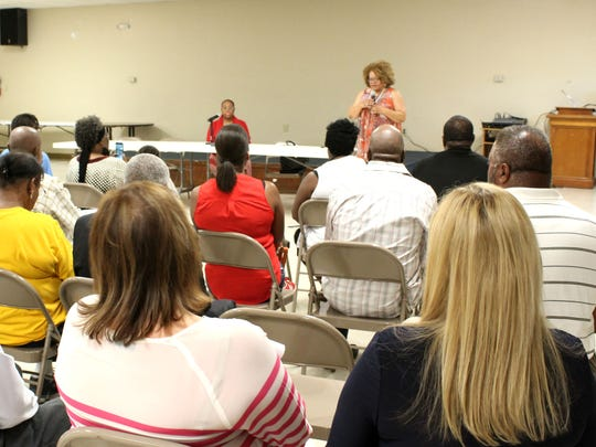 Councilwoman Stephanie Lynch speaks to constituents