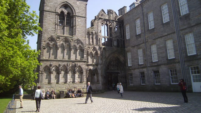 These dark apartments of Holyrood Palace hid the murder of David Rizzio, secretary of Mary, Queen of Scots.