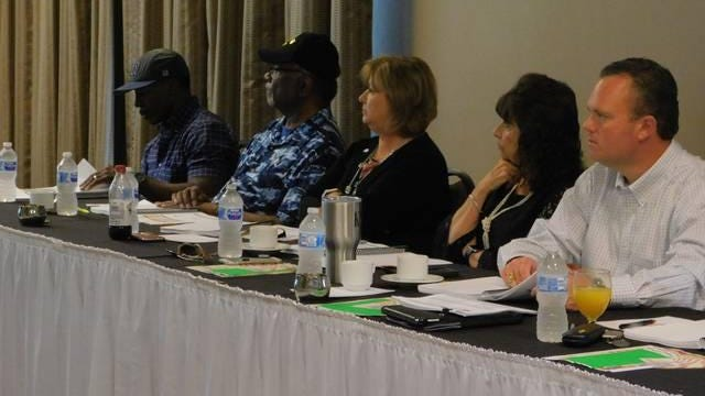 Denison city council members discuss the upcoming budget during the annual budget retreat in this file photo from 2018.