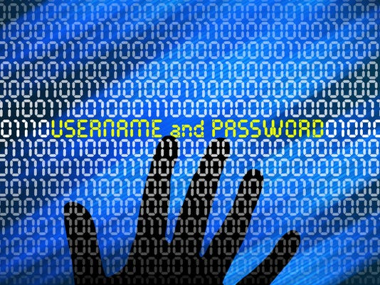 Data security or steal password concept