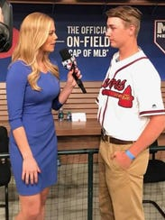 Cornersville's Luke Terry is interviewed at the MLB