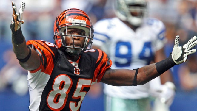 Wide receiver Chad Johnson will be one of several former Cincinnati Bengals recognized by the club on Dec. 4, 2017 at Paul Brown Stadium.