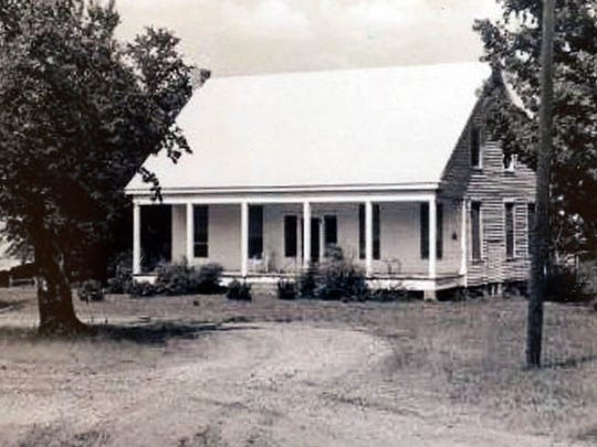 Historic photo given to Chris Parker and Jackie Lewis, who are making renovations to this 1888 two-story dogtrot home in rural Bienville Parish.