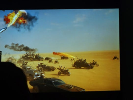 In the HDR version of Mad Max on the right, highlights