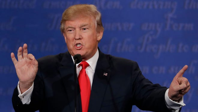Republican presidential nominee Donald Trump declined to say in Wednesday's debate whether he would accept the results of the election.