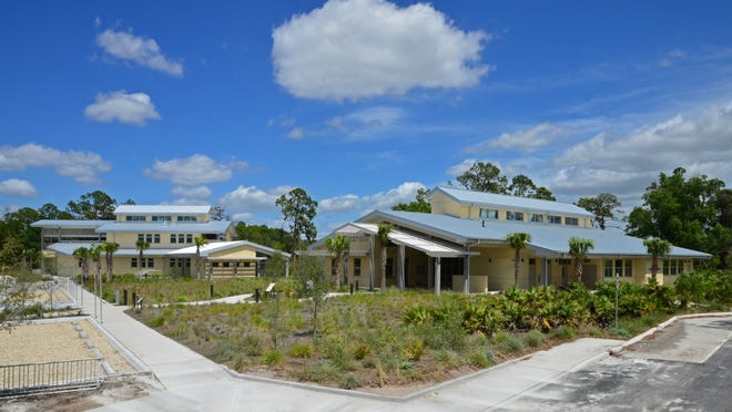 Archbold Biological Station Learning Center and Lodge, Venus. Built in 2011 by ParkerMudgettSmith Architects Inc. It features a lodge and learning center built for a not-for-profit biological research institution in Highlands County.