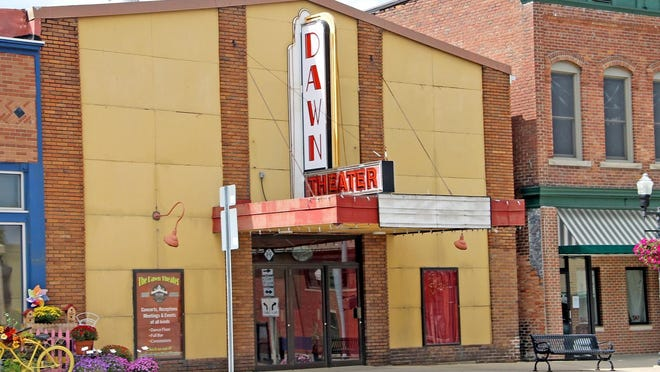 Work is being done to rehabilitate the historic Dawn Theater in Hillsdale, which has sat vacant for years.