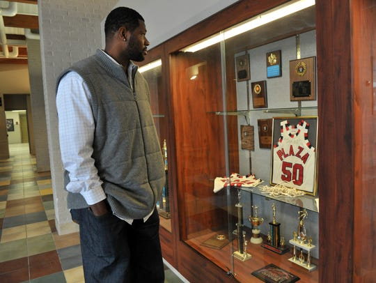 Evansville native Walter McCarty revisits old memories after talking to the students of Plaza Park in 2010.